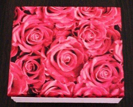 Różane pudełko drewniane